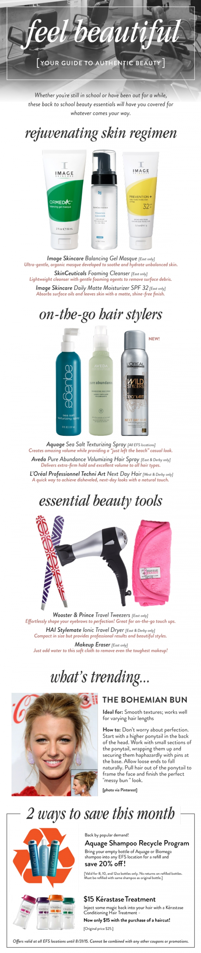 Our back to school beauty essentials: