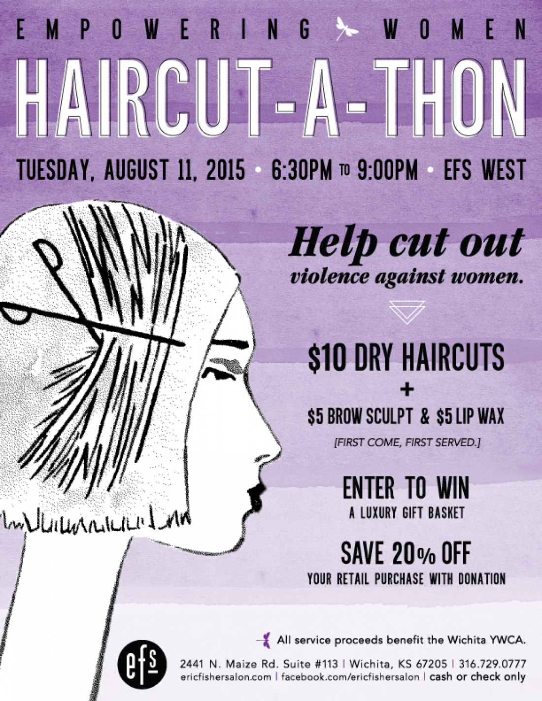 Empowering Women Haircut A Thon At Efs West Eric Fisher Salon